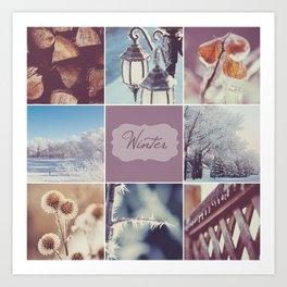 Winter Beauty - Vignette Art Print