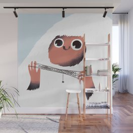 Yeti and spider. Wall Mural