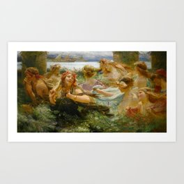 "Charles William Wyllie ""On the way to the Festival"" Art Print"