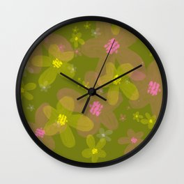 Olive spring Wall Clock
