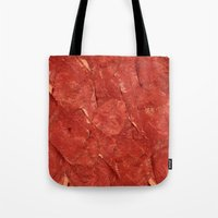 meat Tote Bags featuring mEAT by Jevan Strudwick