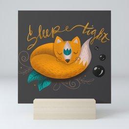 Sleep tight little fox Mini Art Print