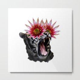 Shocked Tiger Metal Print