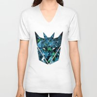 transformers V-neck T-shirts featuring Decepticons Abstractness - Transformers by DesignLawrence
