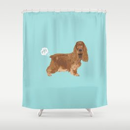 cocker spaniel funny farting dog breed gifts Shower Curtain