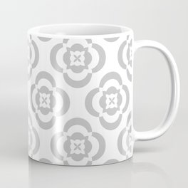 flowers in gray Coffee Mug