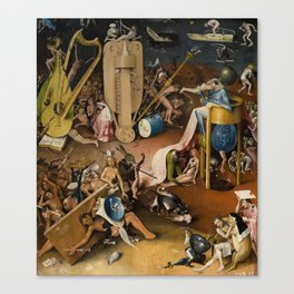 Visions of Hell by Heironymus Bosch Canvas Print