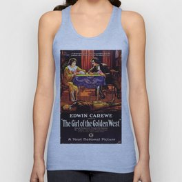 Vintage Movie Posters, The Girl of the Golden West Unisex Tank Top