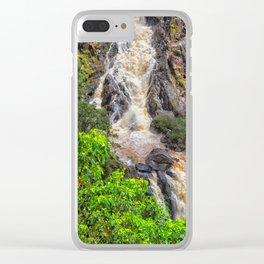 Waterfall in the rainforest Clear iPhone Case