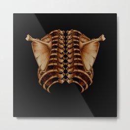 PeopleBack Bone gold Metal Print
