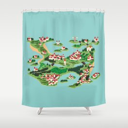 Ghastly Island Shower Curtain