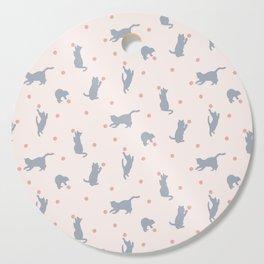 Polka Dot Cats Cutting Board