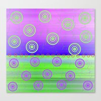 circles Canvas Prints featuring Circles by Fine Art by Rina