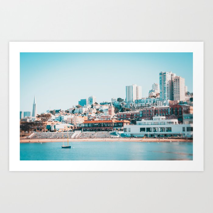 Ghirardelli Sign in San Francisco Art Print