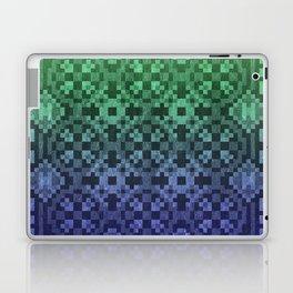 Pixel Patterns Blue Green Laptop & iPad Skin