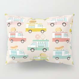 Food Trucks Pillow Sham
