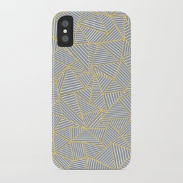 Ab Outline Gold and Grey iPhone Case