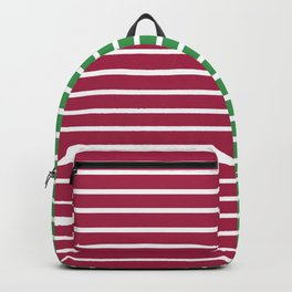 Christmas Stripes Red Green Backpack