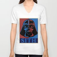 sith V-neck T-shirts featuring Sith lord by coolz77