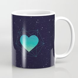 Heart In 3D Dimension Texture Coffee Mug