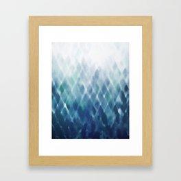 Diamond Fade in Blue Framed Art Print