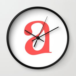 lowercase a Wall Clock