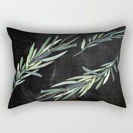 Eucalyptus leaves on chalkboard Rectangular Pillow