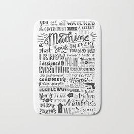 The Machine | Person of Interest Bath Mat
