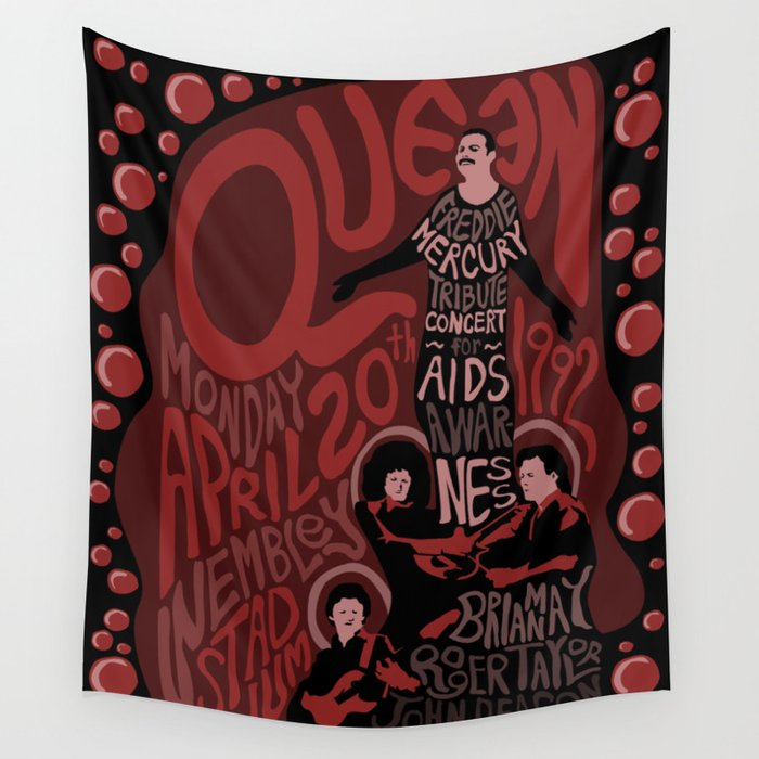 Queen Tribute Concert Wall Tapestry