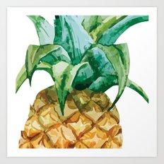 Pineapple , tropical , hawaii , summer , fruit , Art Print