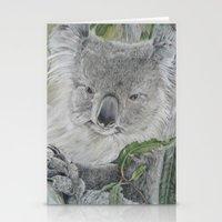 koala Stationery Cards featuring Koala by Cordula Kerlikowski