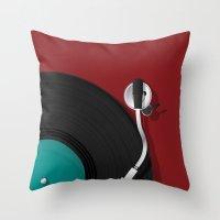 dj Throw Pillows featuring DJ by Rceeh