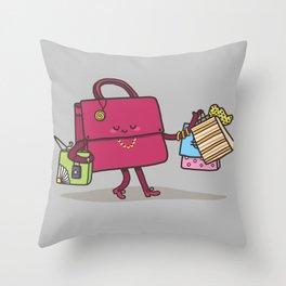 Shopping Addiction Throw Pillow