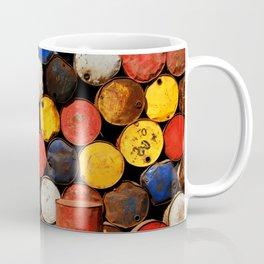 Gasoline Rusty Tin Cans Pattern Coffee Mug