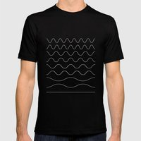between waves MEDIUM Black Mens Fitted Tee