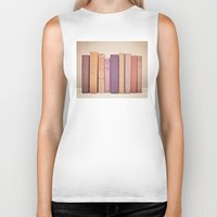 literary Biker Tanks featuring Literary Gems II by Laura Ruth