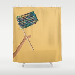 Knitting lover Shower Curtain
