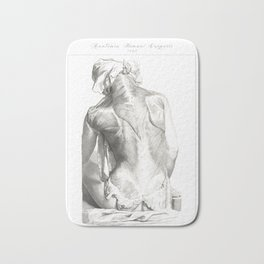 Human Anatomy Art Print SPLENIUS TRAPEZIUS DELTOID Vintage Anatomy, doctor medical art, Antique Book Bath Mat