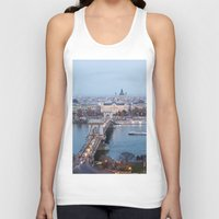 budapest Tank Tops featuring Budapest at night by Jovana Rikalo