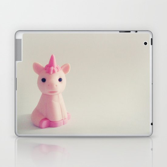 Pink Unicorn Sees You Laptop & iPad Skin