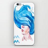 aquarius iPhone & iPod Skins featuring Aquarius by Aloke Design