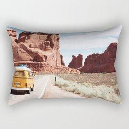 Road Trip Landscape Scene Rectangular Pillow