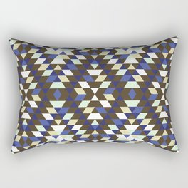 Native Diamond Triangle Pattern Rectangular Pillow