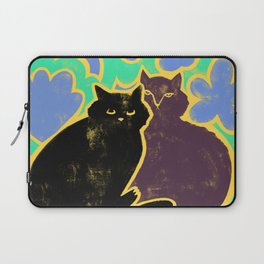 Two Cats Cuddling Laptop Sleeve