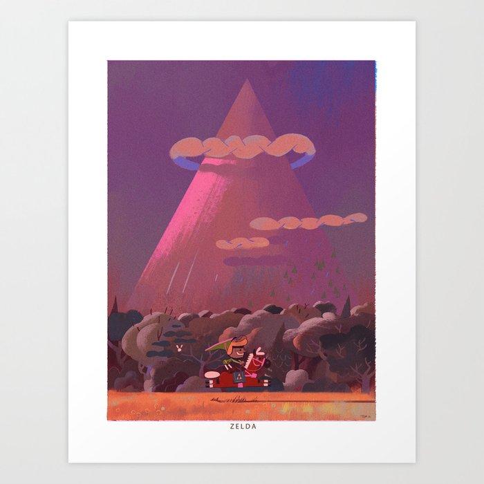 Zelda death mountain Kunstdrucke
