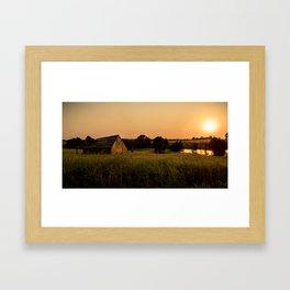 Abandoned Barn at Sunset Framed Art Print