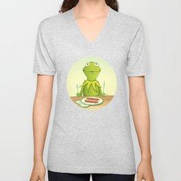 Kermit Loves Facon Unisex V-Neck