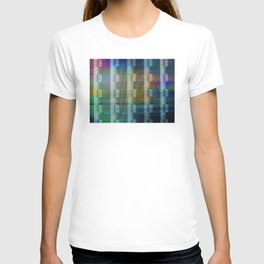 Analogue Glitch Rainbow Blocks T-shirt