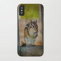vermont iPhone & iPod Cases featuring Vermont Chippy by Deborah Benoit