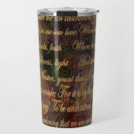 The Prayer of St Francis of Assisi Travel Mug
